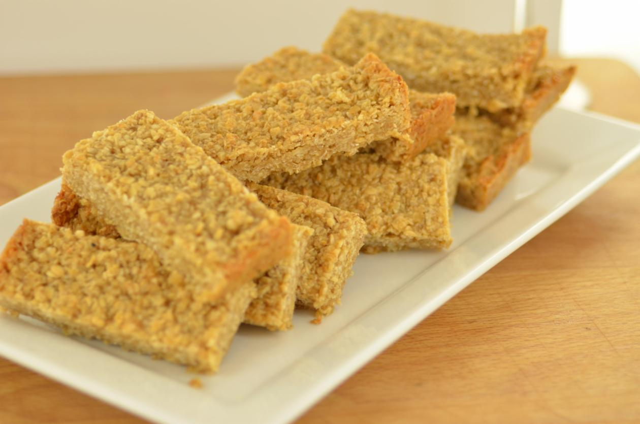 moist flapjack with condensed milk